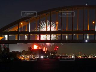 芦屋花火&六甲アイランド大橋の写真・画像素材[1321102]