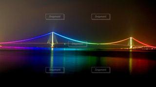 明石海峡大橋 ライトアップの写真・画像素材[1321282]