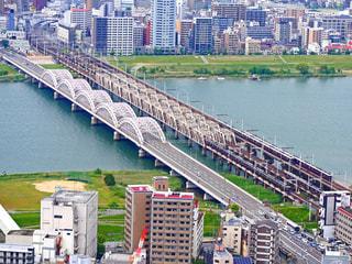 梅田スカイビル空中庭園からの眺めの写真・画像素材[1321959]