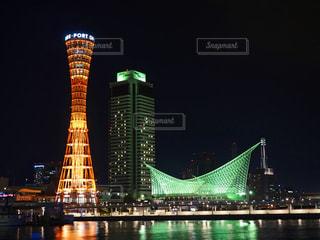 神戸メリケンパーク 夜景の写真・画像素材[1323220]
