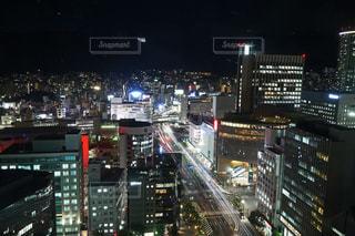 三宮の街 夜景の写真・画像素材[1325972]