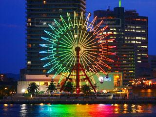 神戸ハーバーランドモザイクの観覧車の写真・画像素材[1329898]