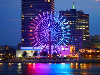 神戸ハーバーランドモザイクの観覧車の写真・画像素材[1329993]