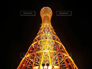 夜の神戸ポートタワーの写真・画像素材[1347564]