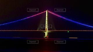 明石海峡大橋 ライトアップの写真・画像素材[1359205]