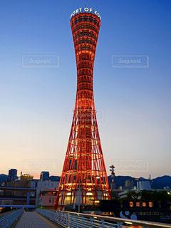 神戸ポートタワー 夕焼けの写真・画像素材[1366234]