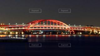 神戸大橋 ライトアップの写真・画像素材[1366266]