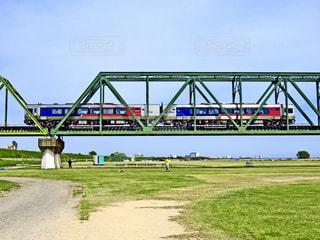 特急うずしおと吉野川橋梁の写真・画像素材[1374157]