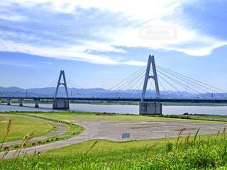 斜張橋の写真・画像素材[1380035]