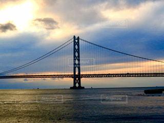 明石海峡大橋 夕焼けの写真・画像素材[1405246]