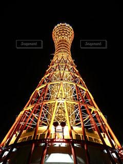 夜の神戸ポートタワーの写真・画像素材[1419750]