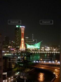 神戸ハーバーランド 夜景の写真・画像素材[1444460]