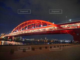 夜の神戸大橋の写真・画像素材[1458838]