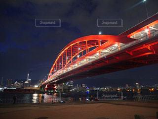 夜の神戸大橋の写真・画像素材[1458853]