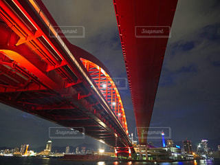夜の神戸大橋の写真・画像素材[1458868]