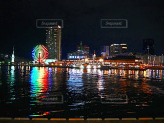 神戸ハーバーランドmosaic 夜景の写真・画像素材[1520868]