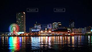 神戸ハーバーランドmosaic 夜景の写真・画像素材[1563948]