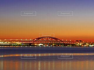 早朝の神戸大橋の写真・画像素材[1699543]
