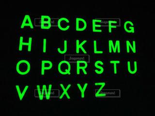 蓄光 (アルファベット)の写真・画像素材[1755084]
