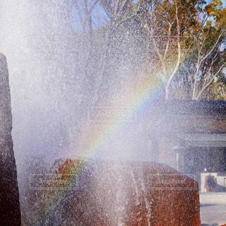 噴水&レインボーの写真・画像素材[1760005]