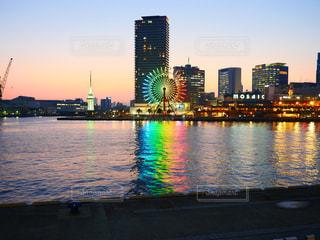 神戸の観覧車と夕焼けの写真・画像素材[1796350]