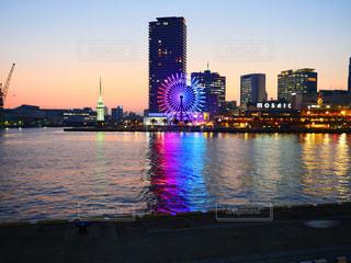 神戸の観覧車と夕焼けの写真・画像素材[1796351]