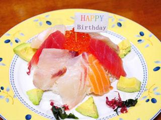 バースデー海鮮丼の写真・画像素材[2210905]