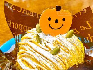 かぼちゃのモンブランの写真・画像素材[2678225]