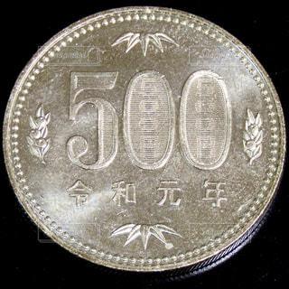 500円玉のクローズアップの写真・画像素材[2783243]