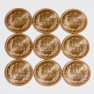 10円玉の写真・画像素材[2845662]