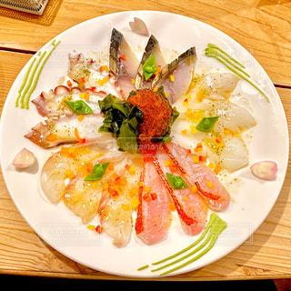海鮮カルパッチョの写真・画像素材[2962659]