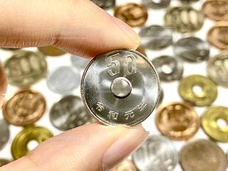 50円玉の写真・画像素材[3064906]