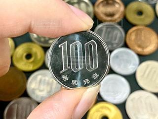 100円玉の写真・画像素材[3105801]