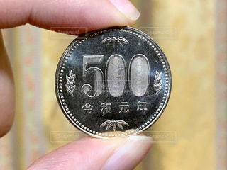令和元年の500円硬貨の写真・画像素材[3223620]