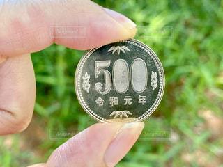 令和元年の500円硬貨の写真・画像素材[3253444]