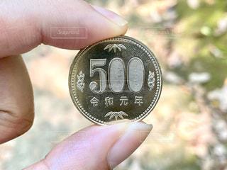 令和元年の500円硬貨の写真・画像素材[3253449]