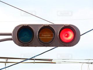 赤信号の写真・画像素材[3466907]