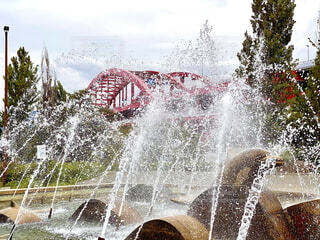 噴水の写真・画像素材[3717008]