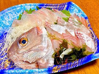 鯛のお造りの写真・画像素材[3827975]