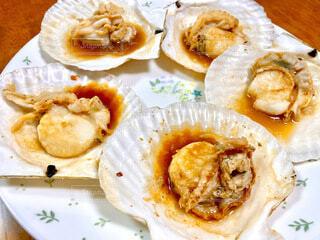 ホタテのバター醤油焼きの写真・画像素材[3863627]