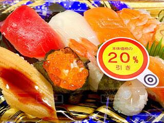 20%引きのお寿司の写真・画像素材[4002071]