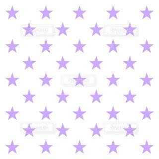 星柄 (紫)の写真・画像素材[4045405]