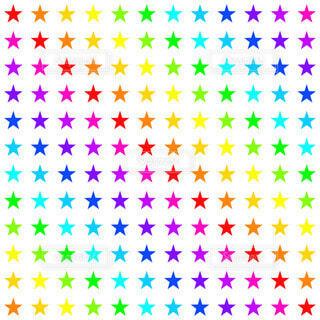 カラフルな星柄の写真・画像素材[4056817]