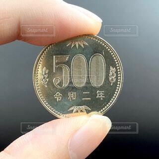 500円玉の写真・画像素材[4182311]