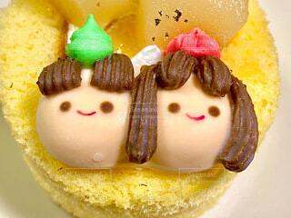 ひな祭りケーキの写真・画像素材[4207745]