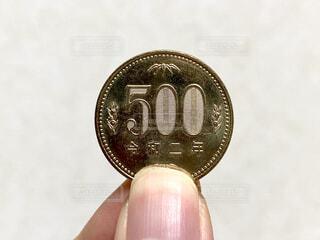 令和二年の500円硬貨の写真・画像素材[4308541]