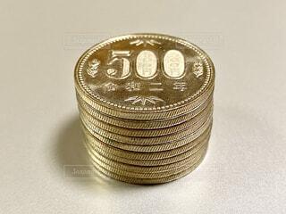 500円玉の写真・画像素材[4320568]