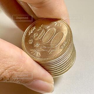 500円玉の写真・画像素材[4320588]