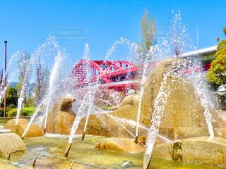 噴水の写真・画像素材[4329242]