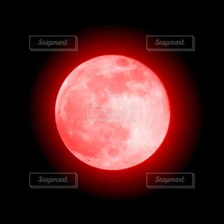 赤い月の写真・画像素材[4366554]